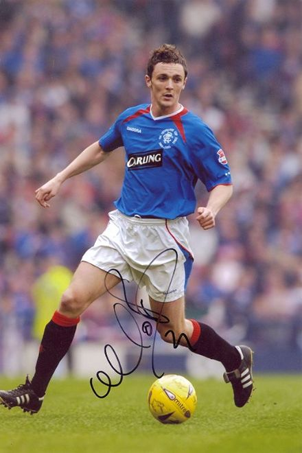 Maurice Ross, Rangers, signed 12x8 inch photo.